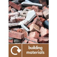 Building Material - WRAP Building Waste Recycling Pictorial Signs