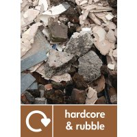 Hardcore & Rubble - WRAP Recycling Pictorial Signs