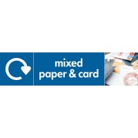 Mixed Paper & Card - WRAP Paper Waste Recycling Pictorial Signs