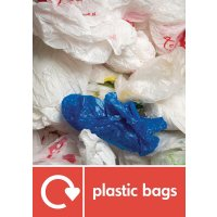 Plastic Bags - WRAP Plastic Waste Recycling Pictorial Signs