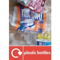 Plastic Bottles - WRAP Plastic Waste Recycling Pictorial Signs