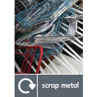 Scrap Metal - WRAP Metal Waste Recycling Pictorial Signs