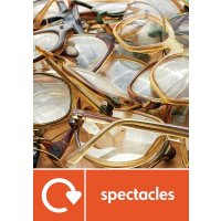 Spectacles - WRAP Other Waste Recycling Pictorial Signs