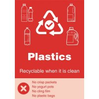 Plastics - WRAP Yes/No Symbol Sign