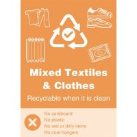 Mixed Textiles - WRAP Yes/No Symbol Sign