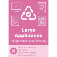 Large Appliances - WRAP Yes/No Recycling Symbol Sign