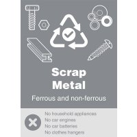 Scrap Metal - WRAP Yes/No Recycling Symbol Sign