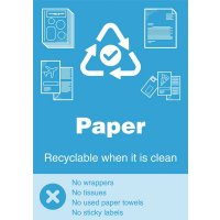 Paper - WRAP Yes/No Recycling Symbol Sign