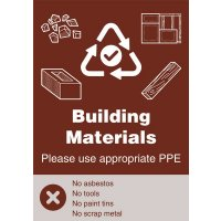 Building Materials - WRAP Yes/No Recycling Symbol Sign