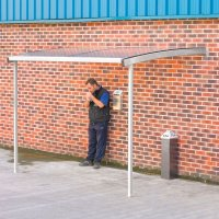 Wall-Mounted Smoking & E-Cigarette Shelter