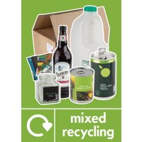 Mixed Recycling - WRAP Photographic Recycling Signs