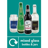 Mixed Glass - WRAP Photographic Recycling Signs