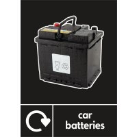 Car Batteries - WRAP Photographic Recycling Signs