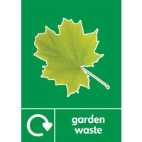 Garden Waste - WRAP Photographic Recycling Signs