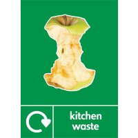 Kitchen Waste - WRAP Photographic Recycling Signs