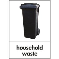 Household Waste - WRAP Photographic Recycling Signs