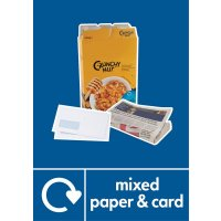 Mixed Paper & Card - WRAP Photographic Recycling Signs