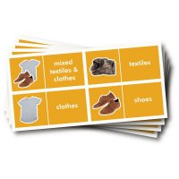 WRAP Photographic Recycling Labels - Textiles