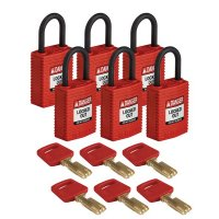 Nylon SafeKey Padlock For Electrical Lockout