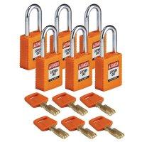 Nylon SafeKey Padlock with steel shackle