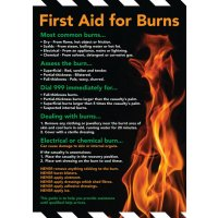 Safety Training Poster - First Aid For Burns
