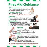 Safety Training Poster - First Aid Guidance