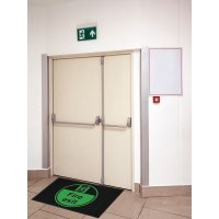 Fire Exit Running Man Right Highly Visible Mats