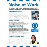 Safety Training Poster - Noise At Work