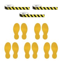 Social Distancing - Marking Tape & Footprint Kit