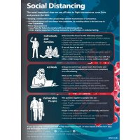 Social Distancing - The Most Important Step We Can All Take Sign (Blue)