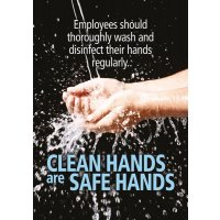 Clean Hands Are Safe Hands Poster