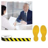 Office/Retail Footprint Floor Sign Social Distancing Bundle Kits