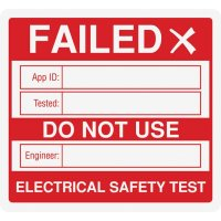 Plug Top Electrical Safety Test Label