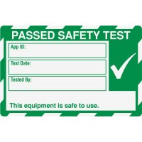 Medium Safety Test Label
