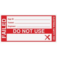 Large Electrical Safety Test Label