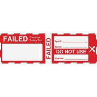 Cable Wrap Electrical Safety Test Label