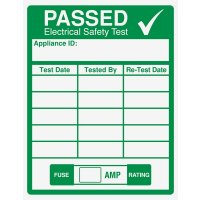 Multi Year Electrical Safety Test Passed Label