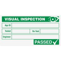 Medium Visual Inspection Passed Label