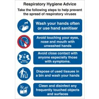 Respiratory Hygiene Advice Sign