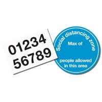 Social Distancing Zone Floor Sign Kit