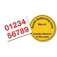 Social Distancing Zone Floor Sign Kit