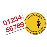 Social Distancing - Female Toilets Floor Sign Kit