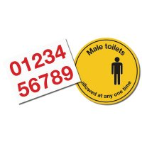 Social Distancing - Male Toilets Floor Sign Kit