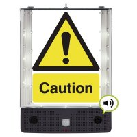 Seton Talking Safety Sign Alerter - Caution Sign