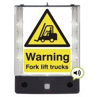 Seton Talking Safety Sign Alerter - Forklift Truck Sign
