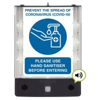 Seton Talking Safety Sign Alerter - Hand Sanitiser Sign