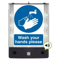 Seton Talking Safety Sign Alerter - Wash Hands Sign
