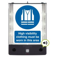 Seton Talking Safety Sign Alerter - Hi-Viz Jacket Sign