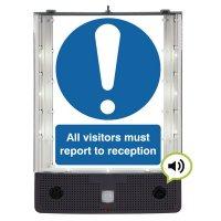 Seton Talking Safety Sign Alerter - Visitor Reception Sign