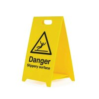 Danger Slippery Surface - Safety Warning 'A' Board